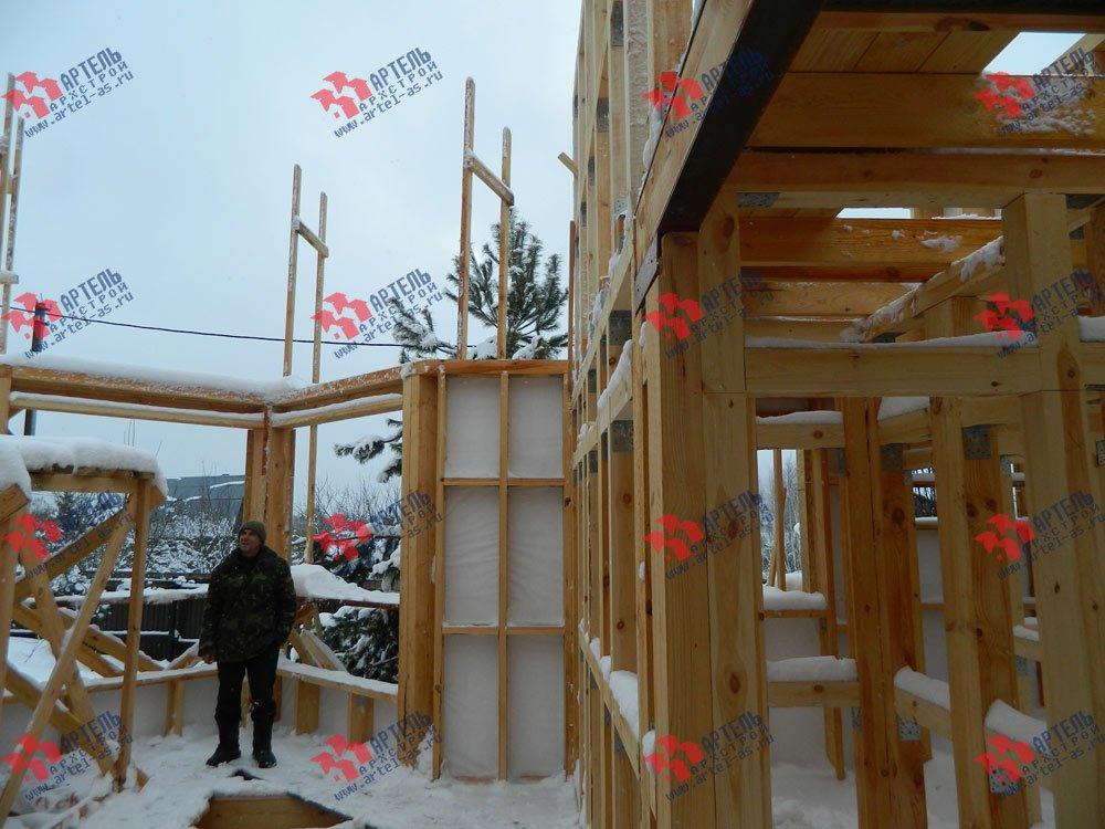 дом из профилированного бруса построенный по проекту Вариант 5 фотография 2977