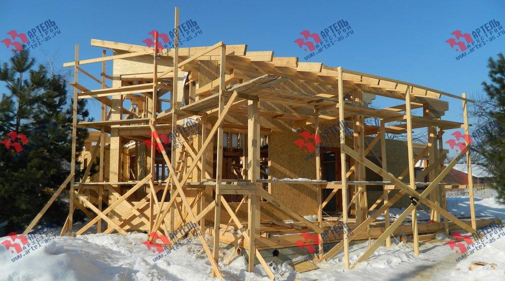 дом из профилированного бруса построенный по проекту Вариант 5 фотография 2979