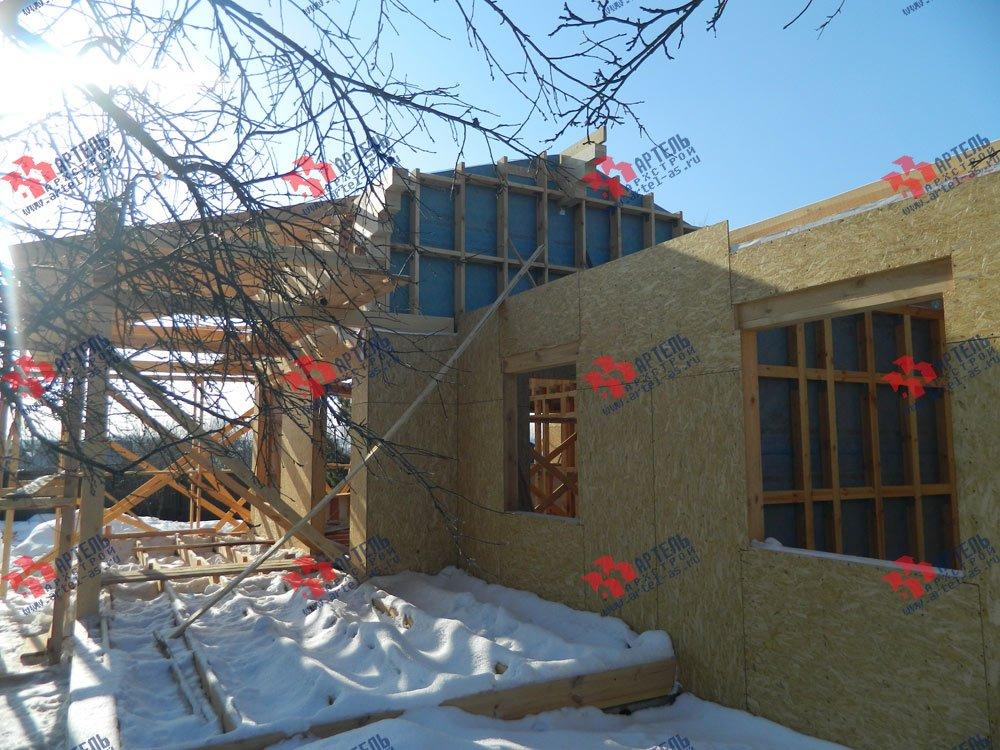 дом из профилированного бруса построенный по проекту Вариант 5 фотография 2980