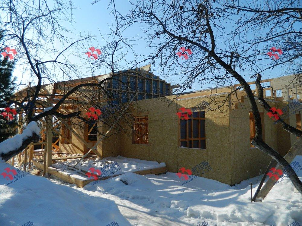 дом из профилированного бруса построенный по проекту Вариант 5 фотография 2981