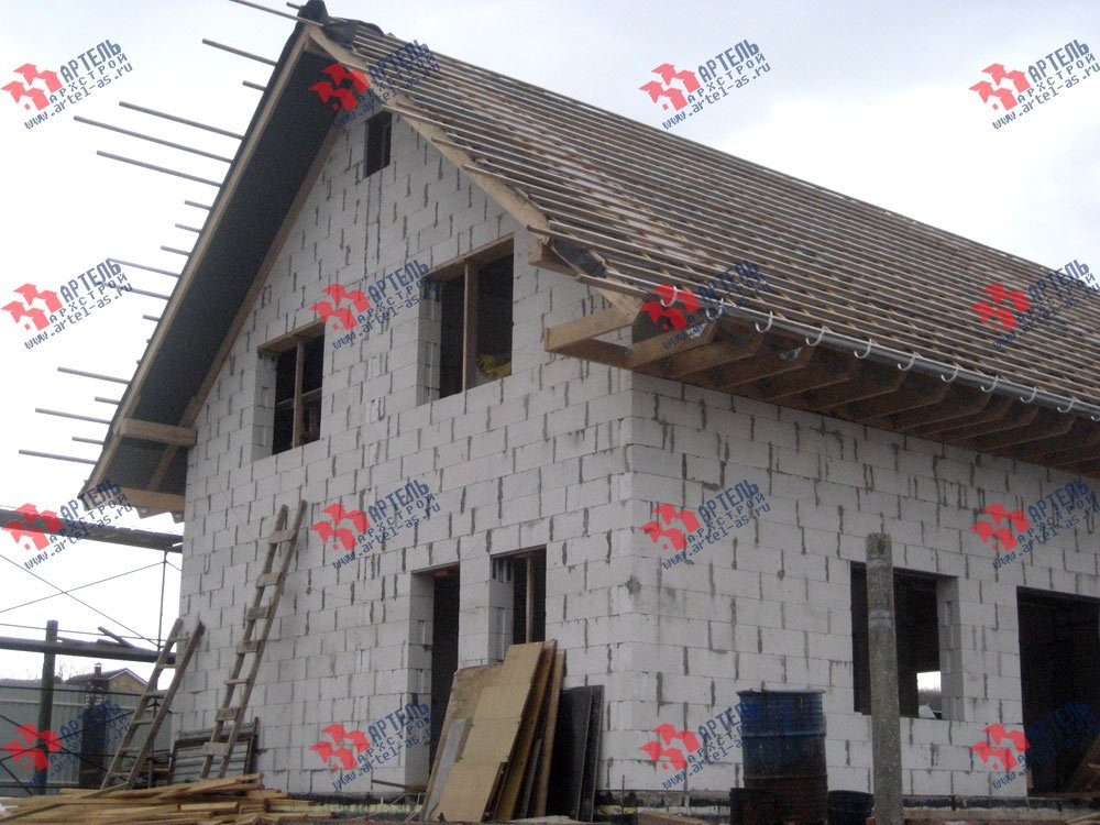 дом из камня построенный по проекту Вариант 22 фотография 2706