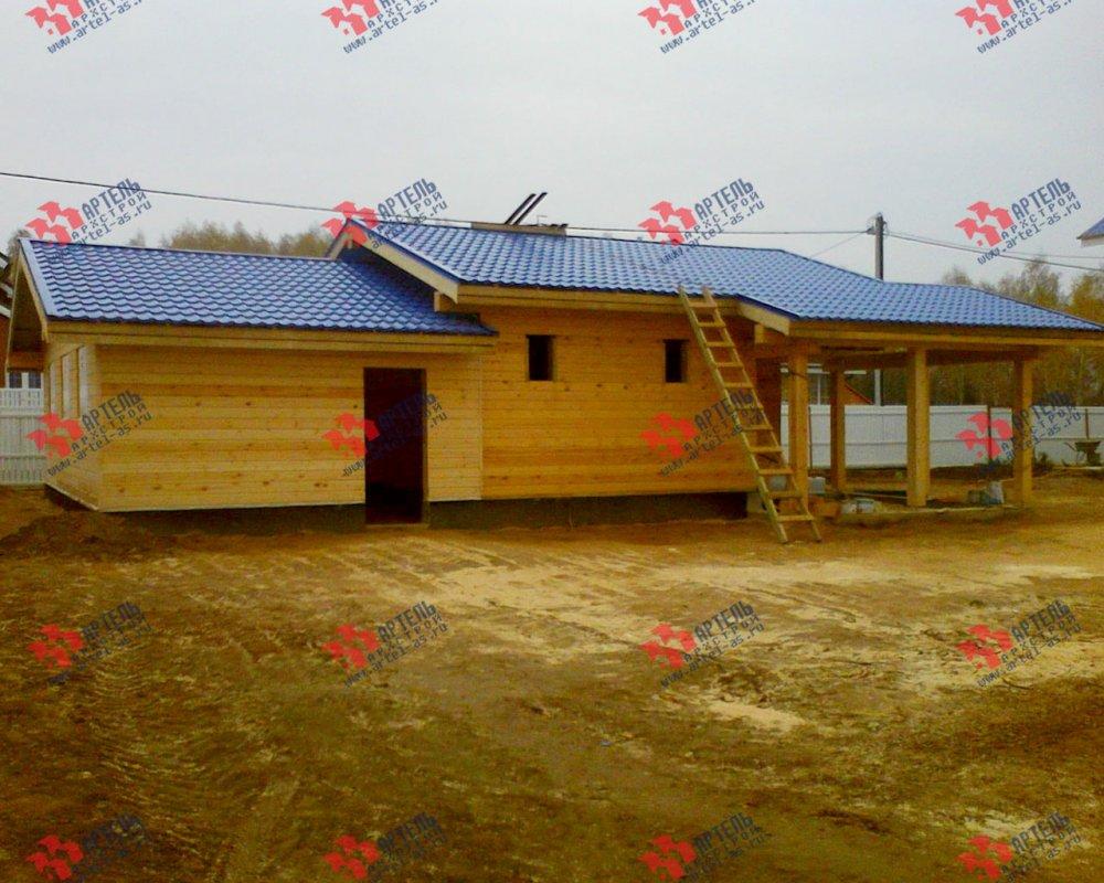 дом из профилированного бруса построенный по проекту Вариант 7.8 Б фотография 3546