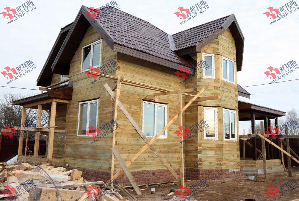 дом из бруса построенный по проекту Вариант 9.3 В фотография 3260