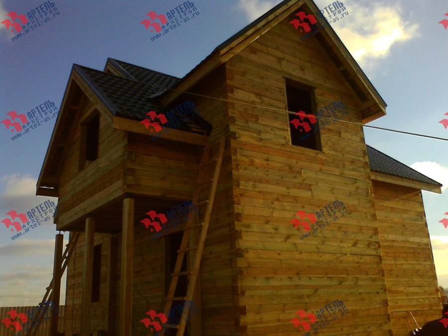 дом из бруса построенный по проекту Вариант 8 Е фотография 3558