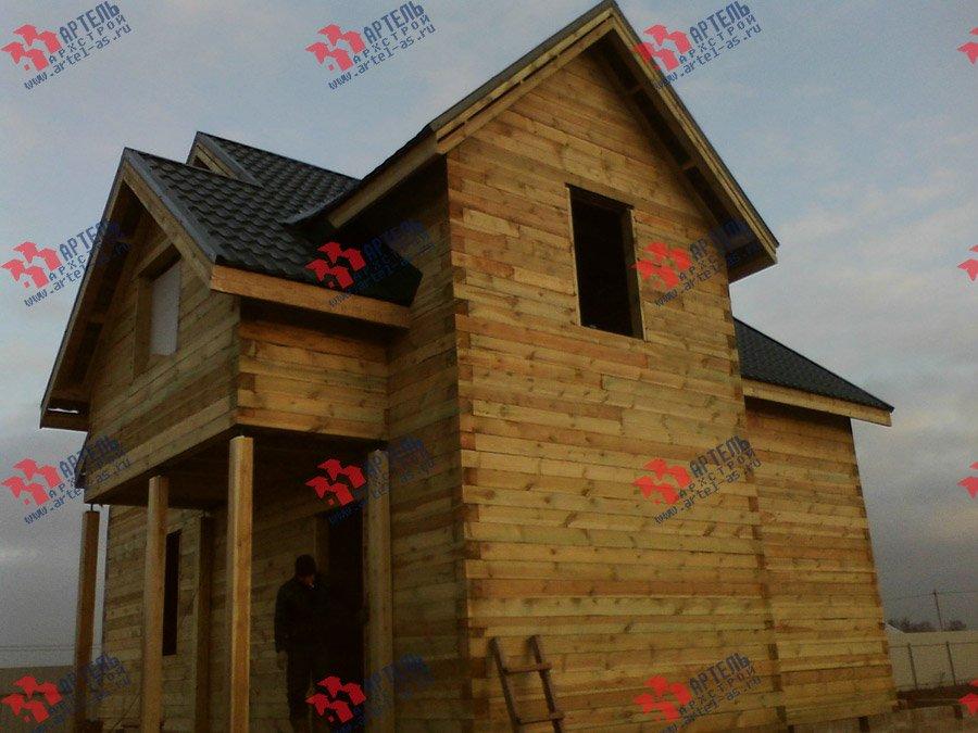 дом из бруса построенный по проекту Вариант 8 Е фотография 3563