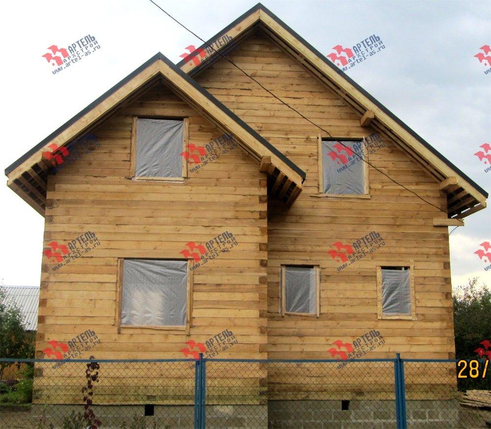 дом из бруса построенный по проекту Вариант 8.2 А фотография 2183