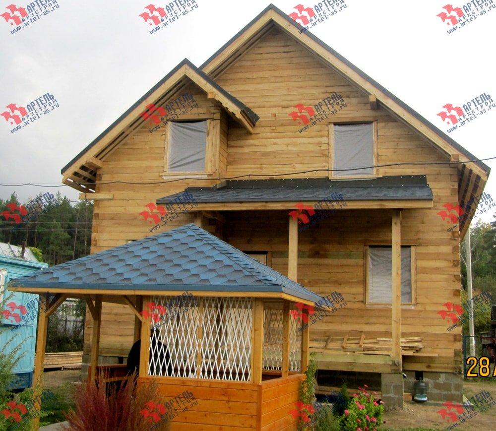 дом из бруса построенный по проекту Вариант 8.2 А фотография 2185