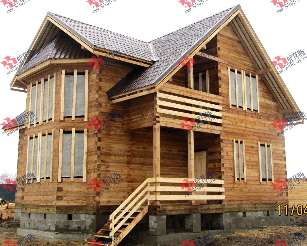 дом из профилированного бруса построенный по проекту Вариант 11 И фотография 2424