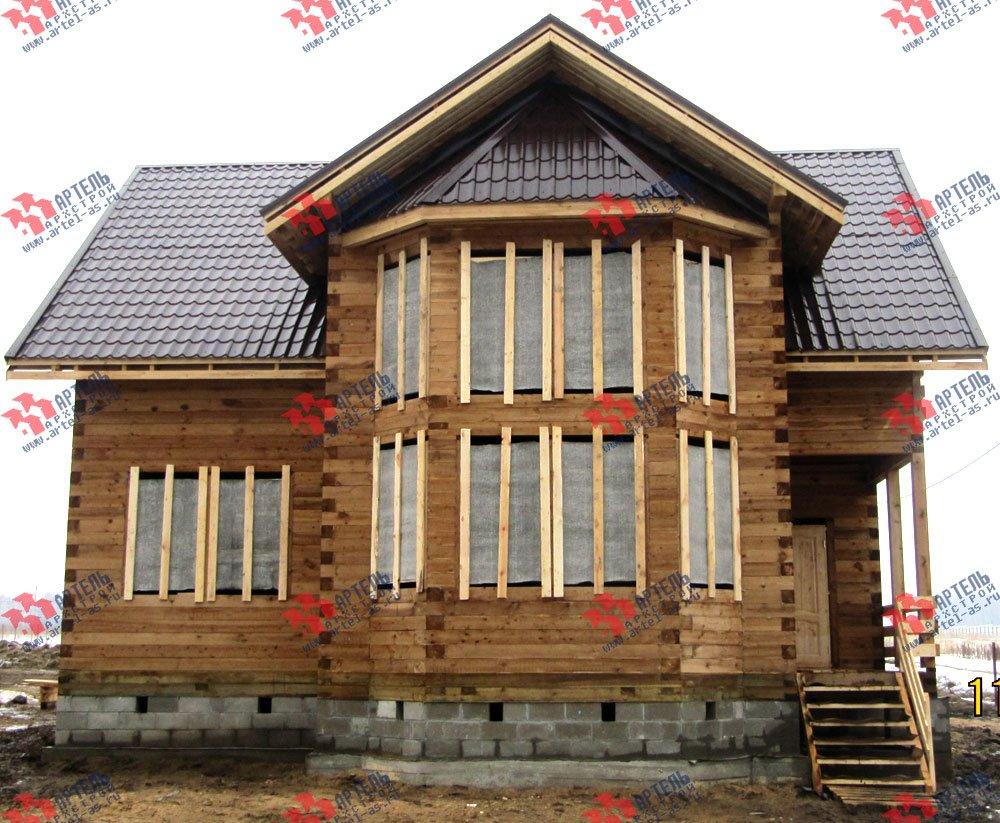 дом из профилированного бруса построенный по проекту Вариант 11 И фотография 2425