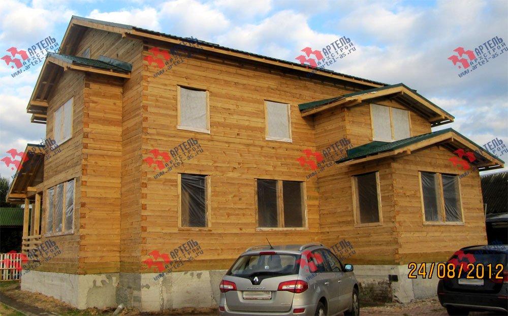 дом из бруса построенный по проекту Вариант 11.1 А фотография 2587