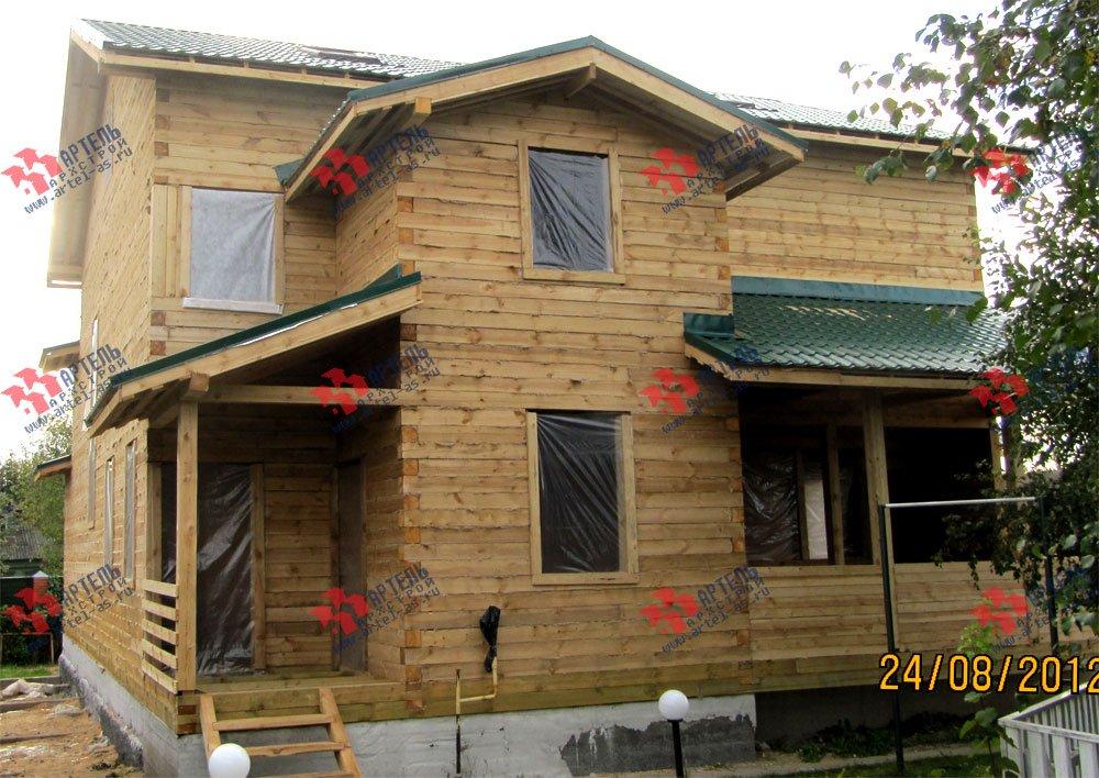 дом из бруса построенный по проекту Вариант 11.1 А фотография 2588