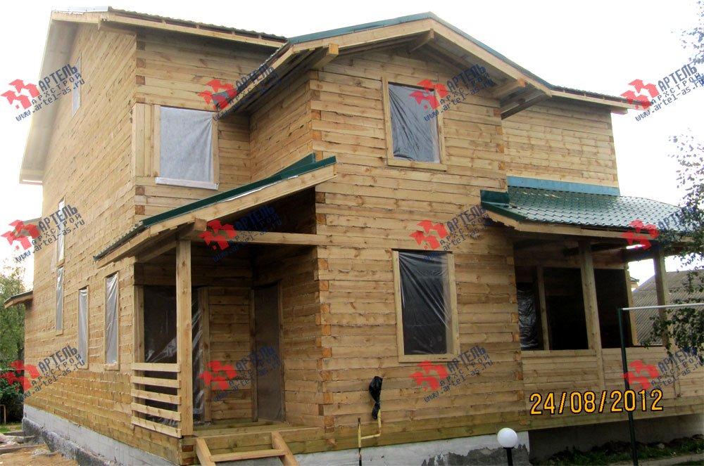 дом из бруса построенный по проекту Вариант 11.1 А фотография 2589