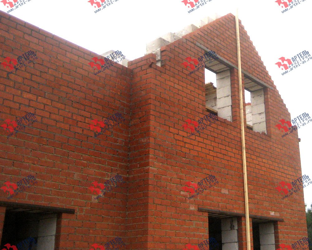 дом из камня построенный по проекту Вариант 23 фотография 2731