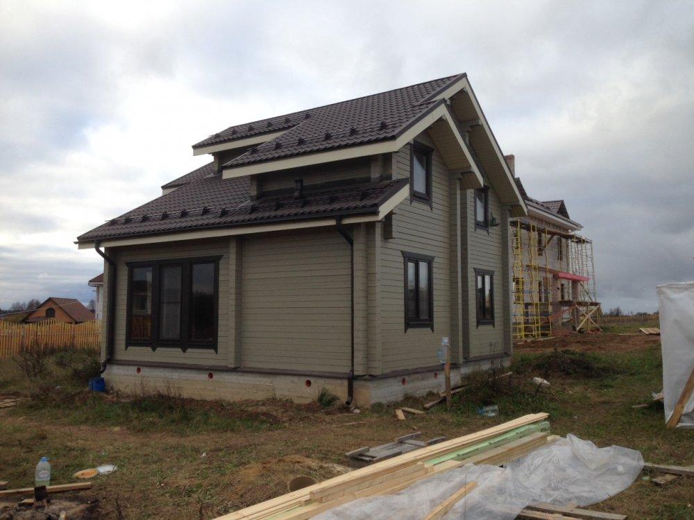 дом из профилированного бруса построенный по проекту Вариант 9.3 К фотография 4844