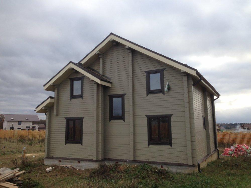дом из профилированного бруса построенный по проекту Вариант 9.3 К фотография 4843