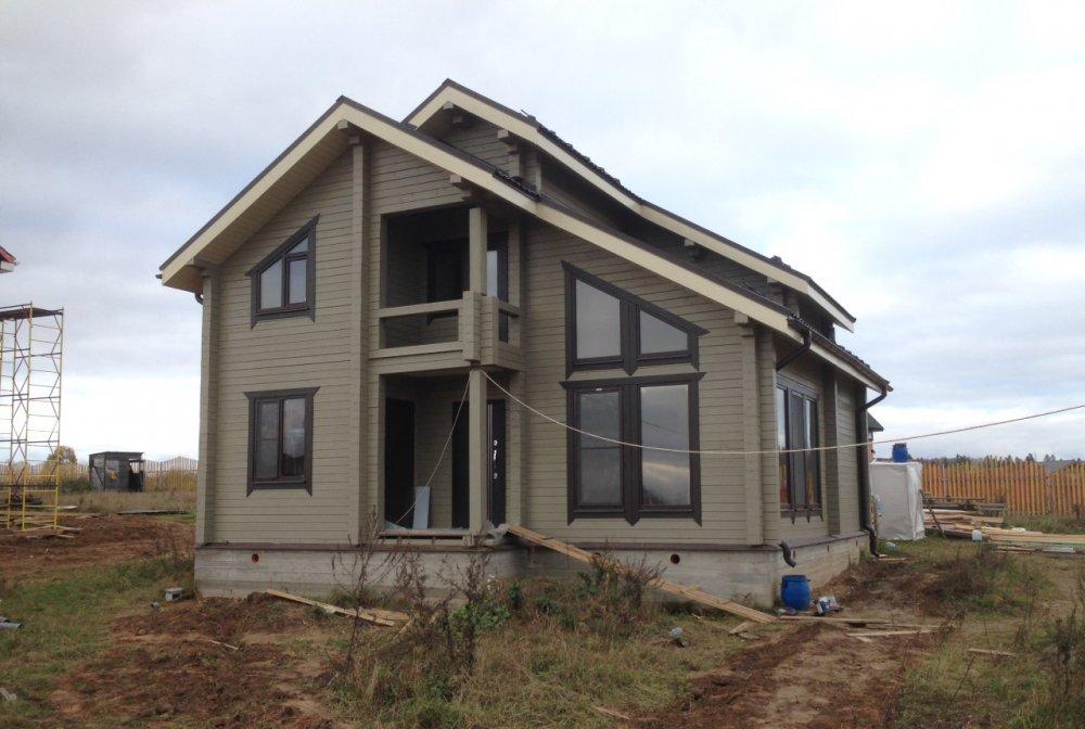 дом из профилированного бруса построенный по проекту Вариант 9.3 К фотография 4841