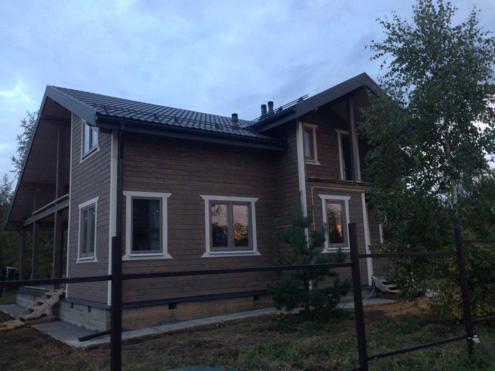 дом из профилированного бруса построенный по проекту Вариант 11 П фотография 4860
