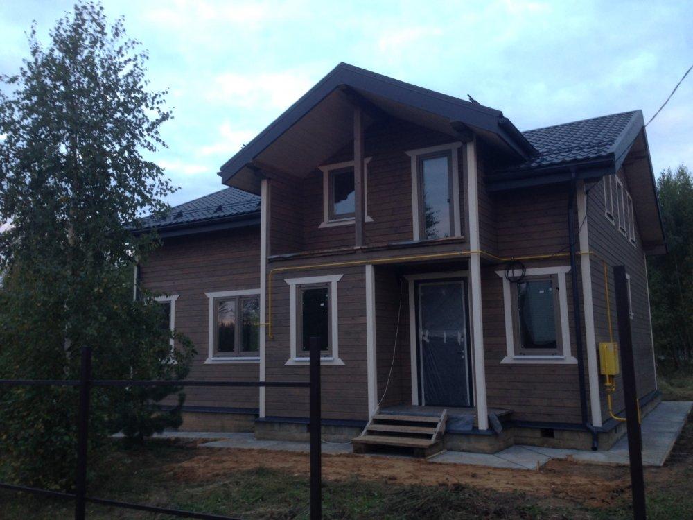 дом из профилированного бруса построенный по проекту Вариант 11 П фотография 4859
