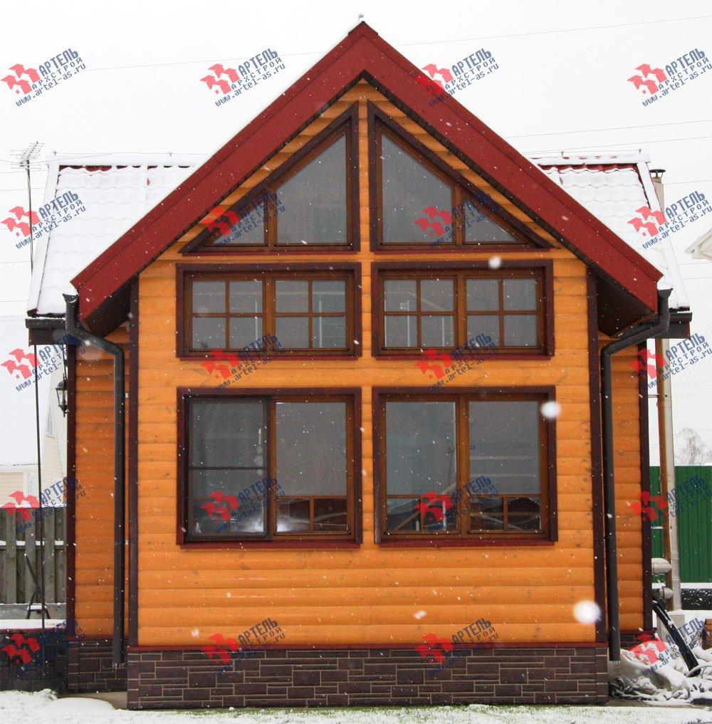 дом из профилированного бруса построенный по проекту Вариант 3 фотография 1604