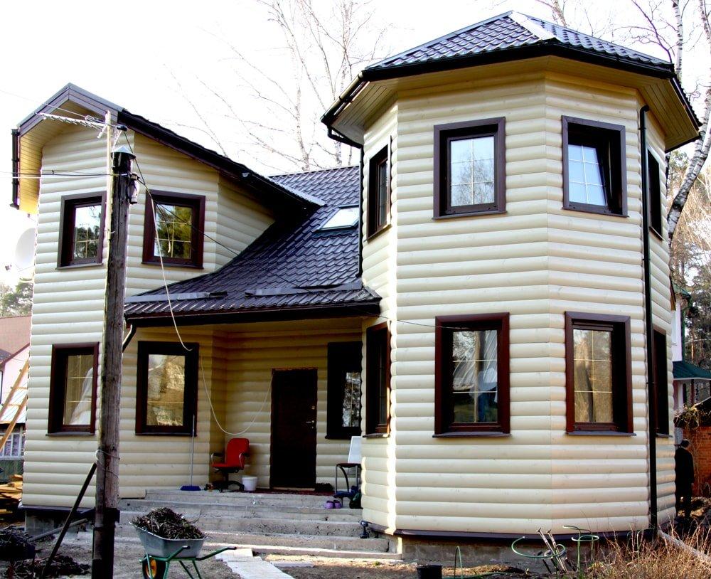 дом из бруса построенный по проекту Вариант 11.5 А фотография 2390