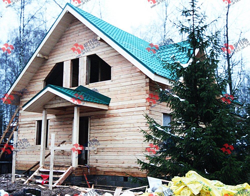 дом из профилированного бруса построенный по проекту Вариант 8.5 В фотография 1707