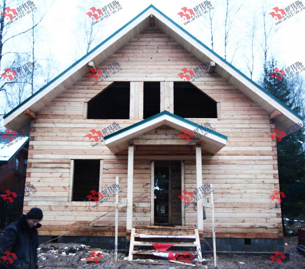 дом из профилированного бруса построенный по проекту Вариант 8.5 В фотография 1712