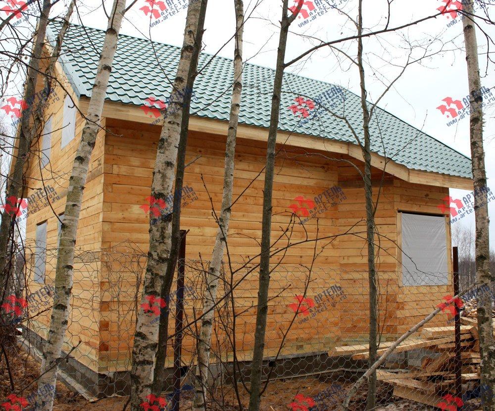 дом из бруса построенный по проекту Вариант 8.5 И фотография 2429