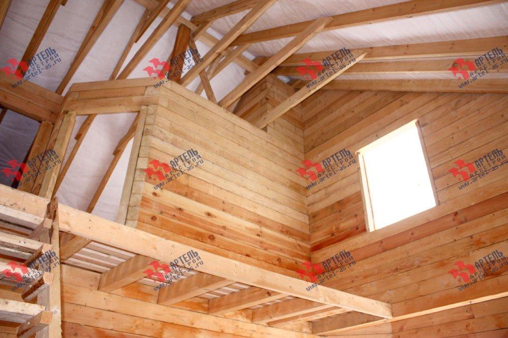 дом из бруса построенный по проекту Вариант 8.5 И фотография 2432