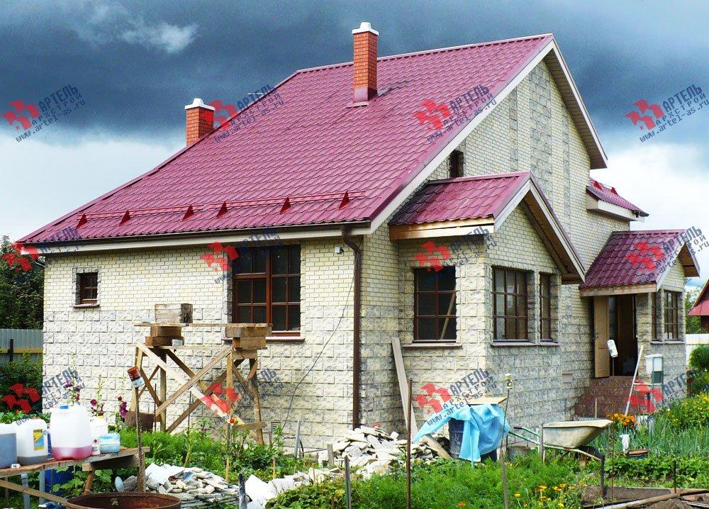 дом из профилированного бруса построенный по проекту Вариант 6.7 А фотография 1641