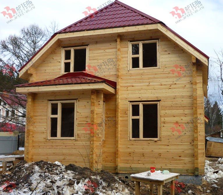 дом из профилированного бруса построенный по проекту Вариант 7 Г фотография 1687