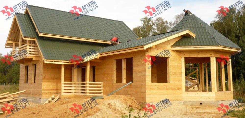 дом из профилированного бруса построенный по проекту Вариант 9 Е-1 фотография 2603