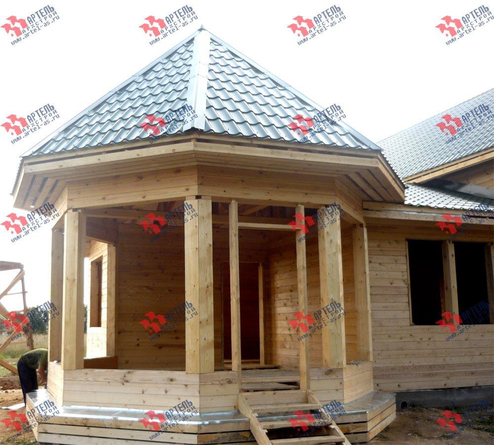 дом из профилированного бруса построенный по проекту Вариант 9 Е-1 фотография 2605