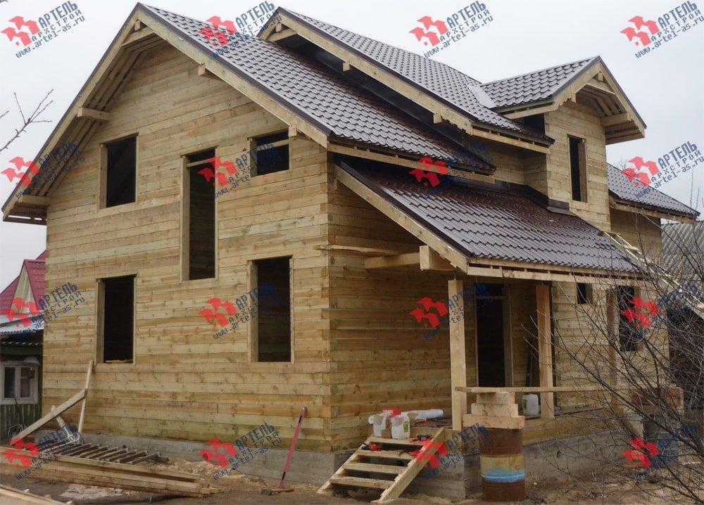 дом из бруса построенный по проекту Вариант 11 Л-2 фотография 3318