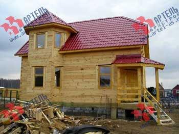 дом из профилированного бруса построенный по проекту Вариант 6 К фотография 1650