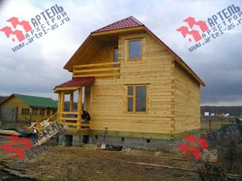 дом из профилированного бруса построенный по проекту Вариант 6 К фотография 1651