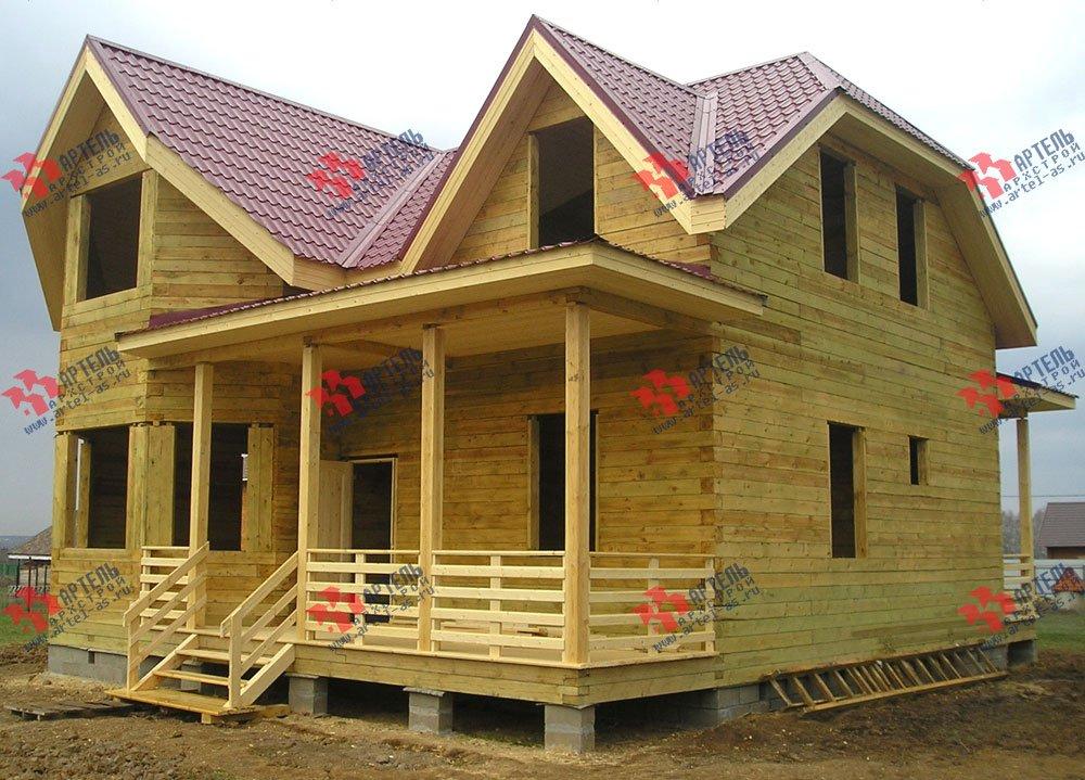 дом из бруса построенный по проекту Вариант 10 Д фотография 1870