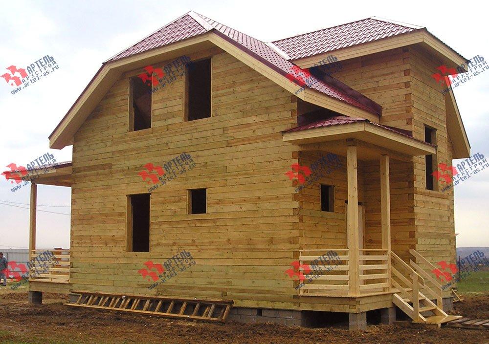дом из бруса построенный по проекту Вариант 10 Д фотография 1872