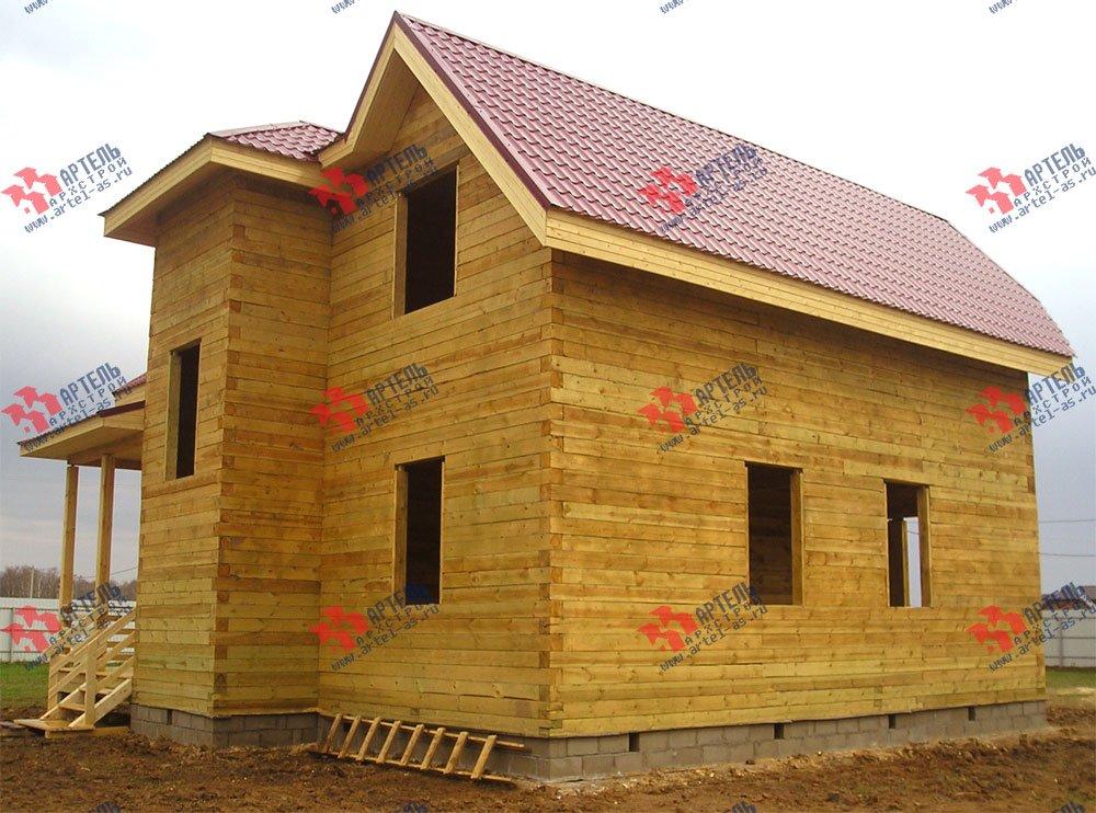 дом из бруса построенный по проекту Вариант 10 Д фотография 1873