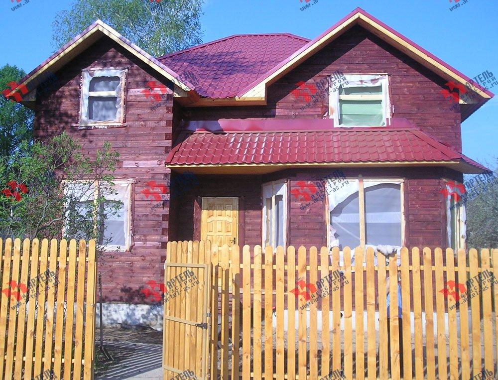 дом из бруса построенный по проекту Вариант 9.5 А фотография 2233