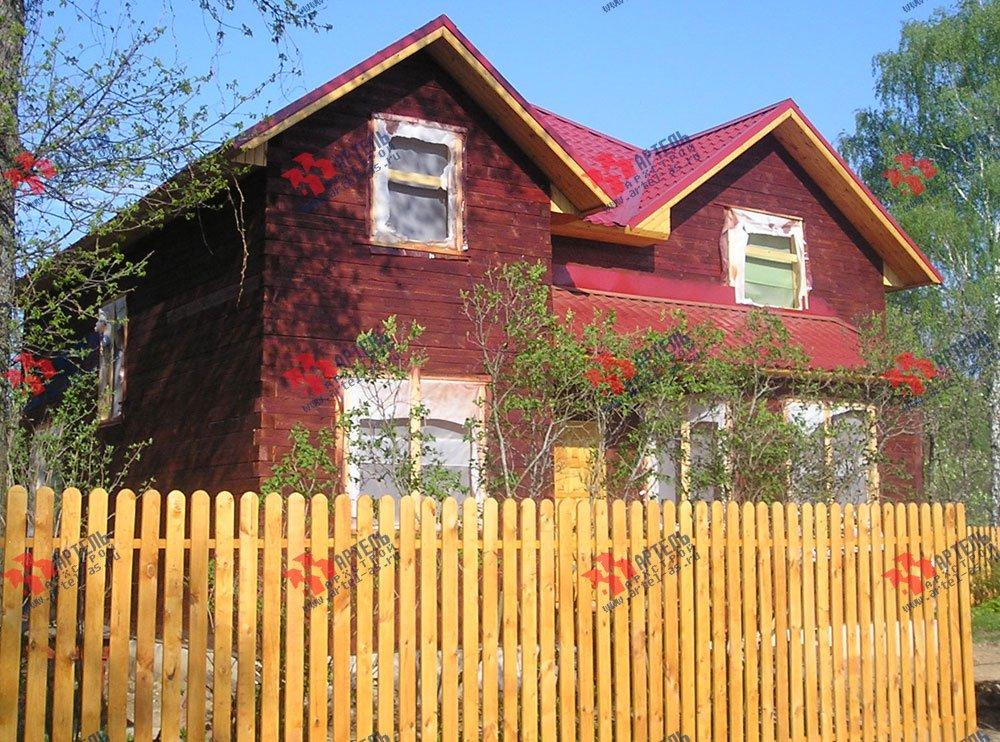 дом из бруса построенный по проекту Вариант 9.5 А фотография 2234