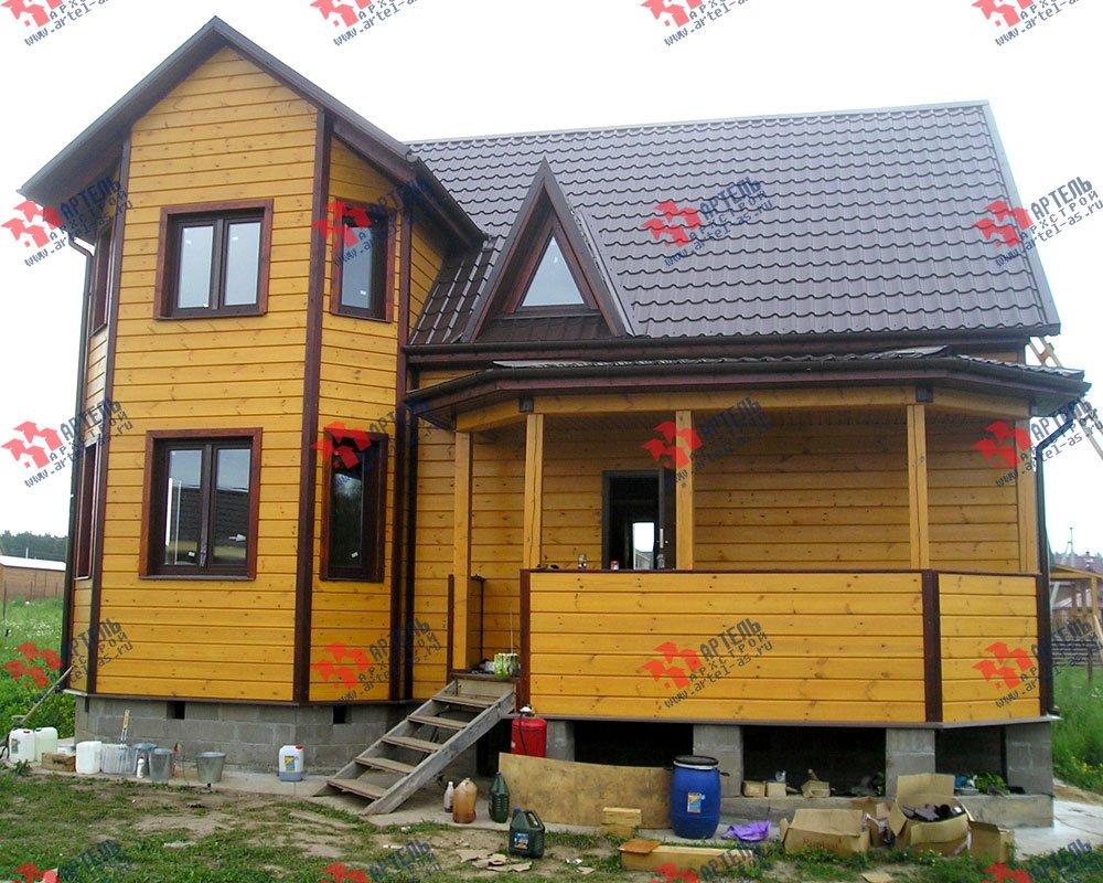 дом из бруса построенный по проекту Вариант 8.4 А фотография 2552