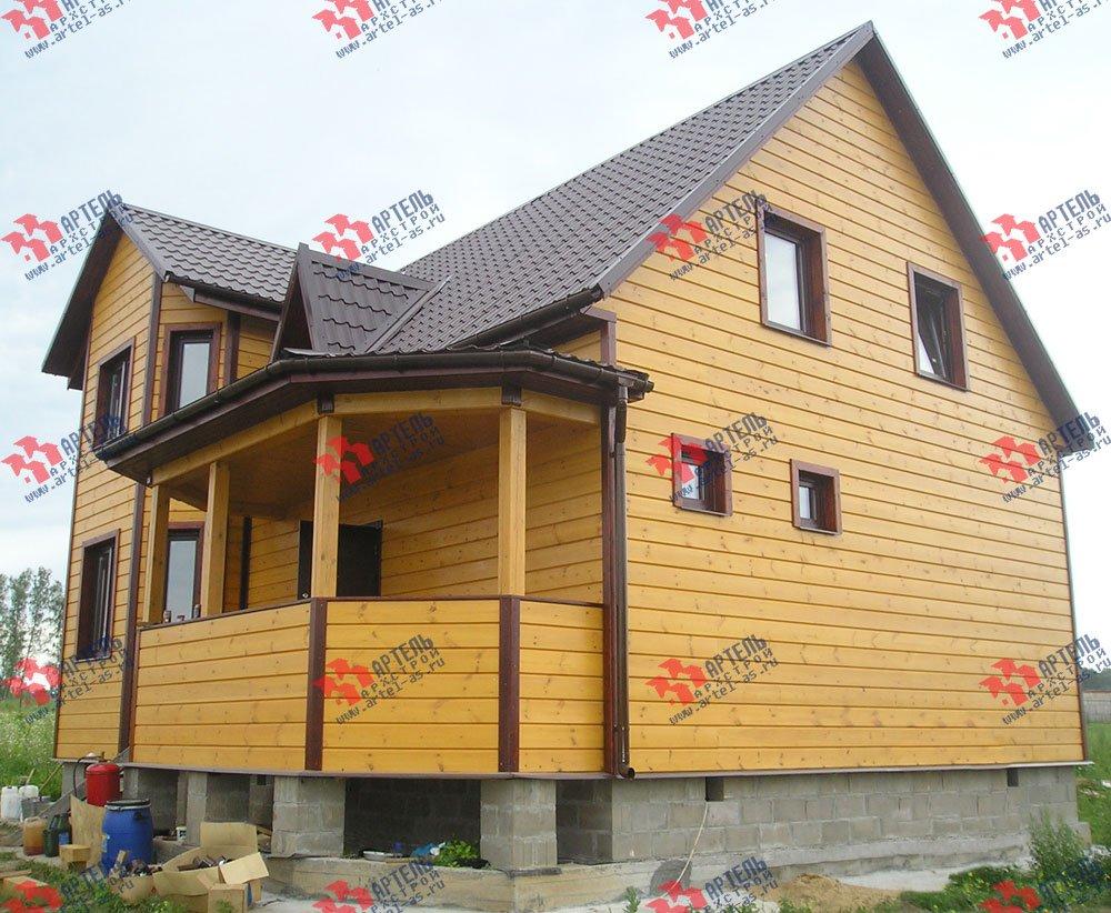 дом из бруса построенный по проекту Вариант 8.4 А фотография 2554