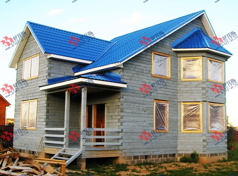 дом из бруса построенный по проекту Вариант 7.5 В фотография 1654