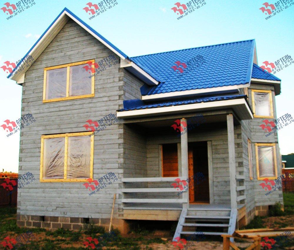 дом из бруса построенный по проекту Вариант 7.5 В фотография 1655