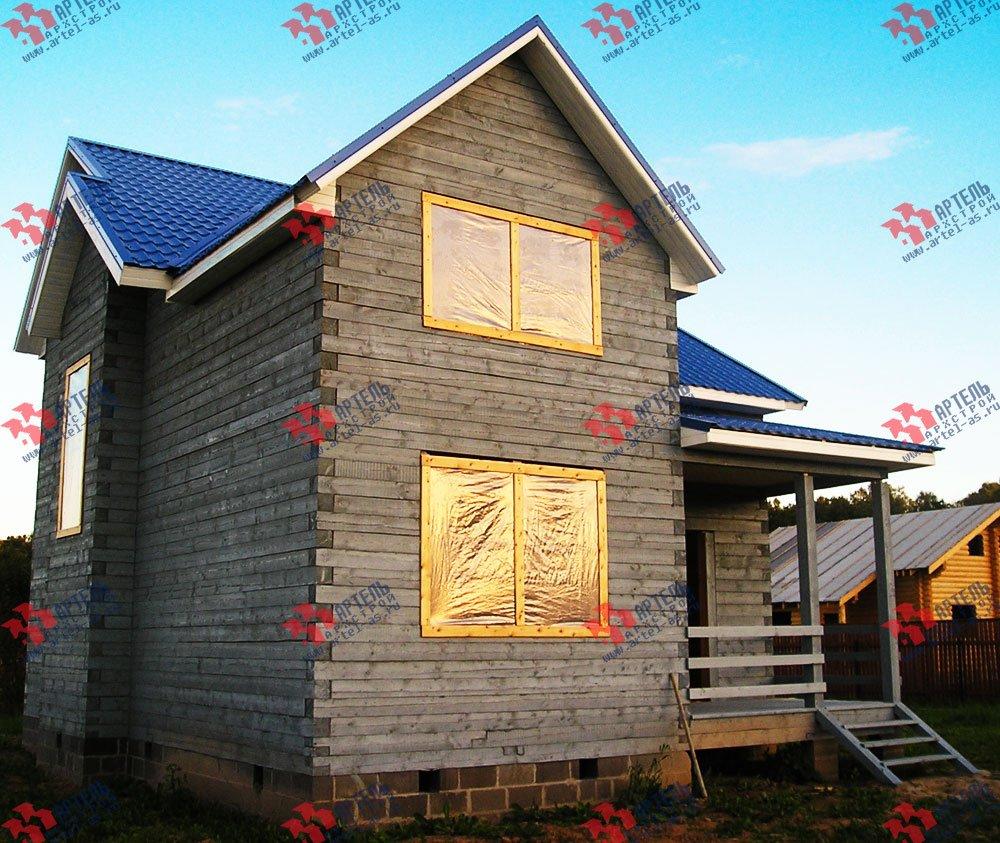 дом из бруса построенный по проекту Вариант 7.5 В фотография 1656