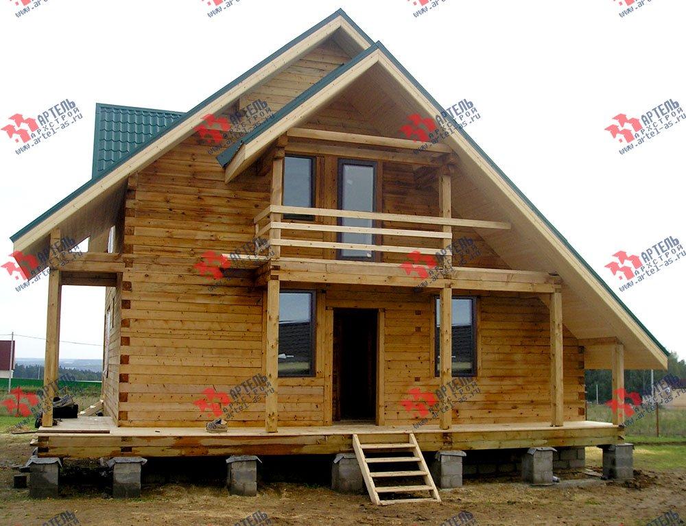 дом из профилированного бруса построенный по проекту Вариант 7.7 А фотография 2555