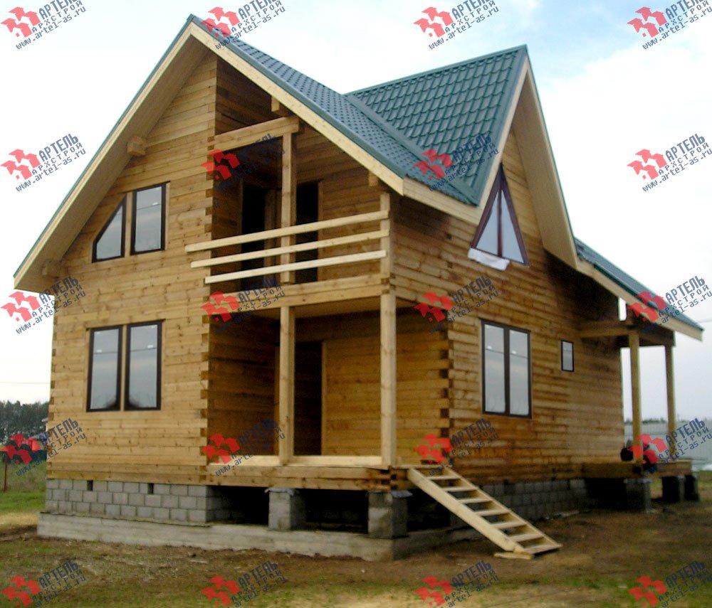 дом из профилированного бруса построенный по проекту Вариант 7.7 А фотография 2556
