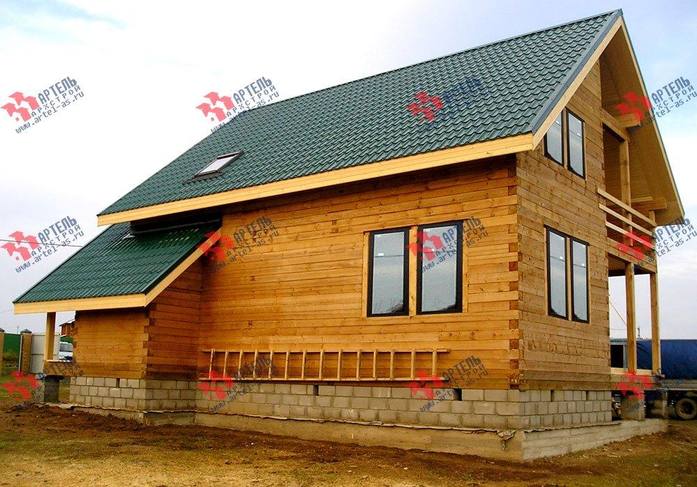 дом из профилированного бруса построенный по проекту Вариант 7.7 А фотография 2557