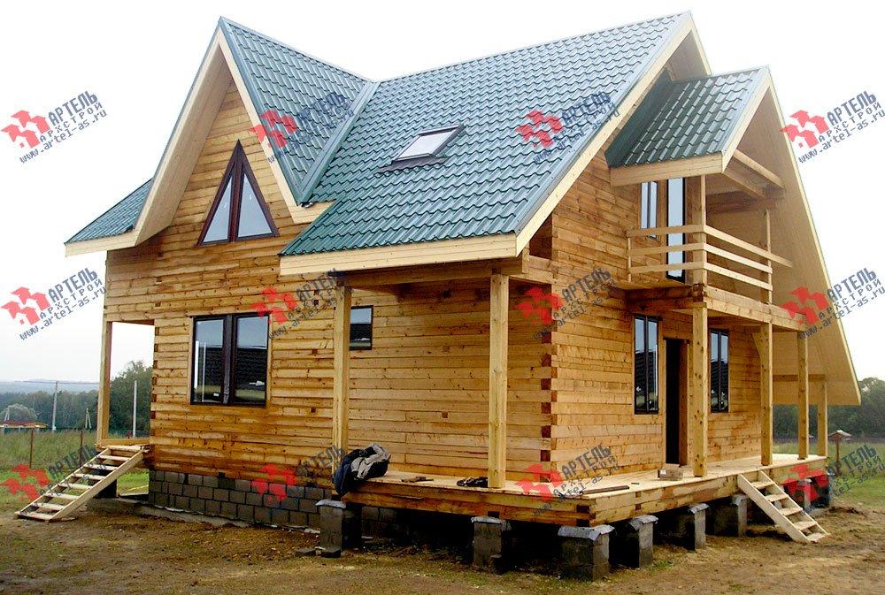 дом из профилированного бруса построенный по проекту Вариант 7.7 А фотография 2558