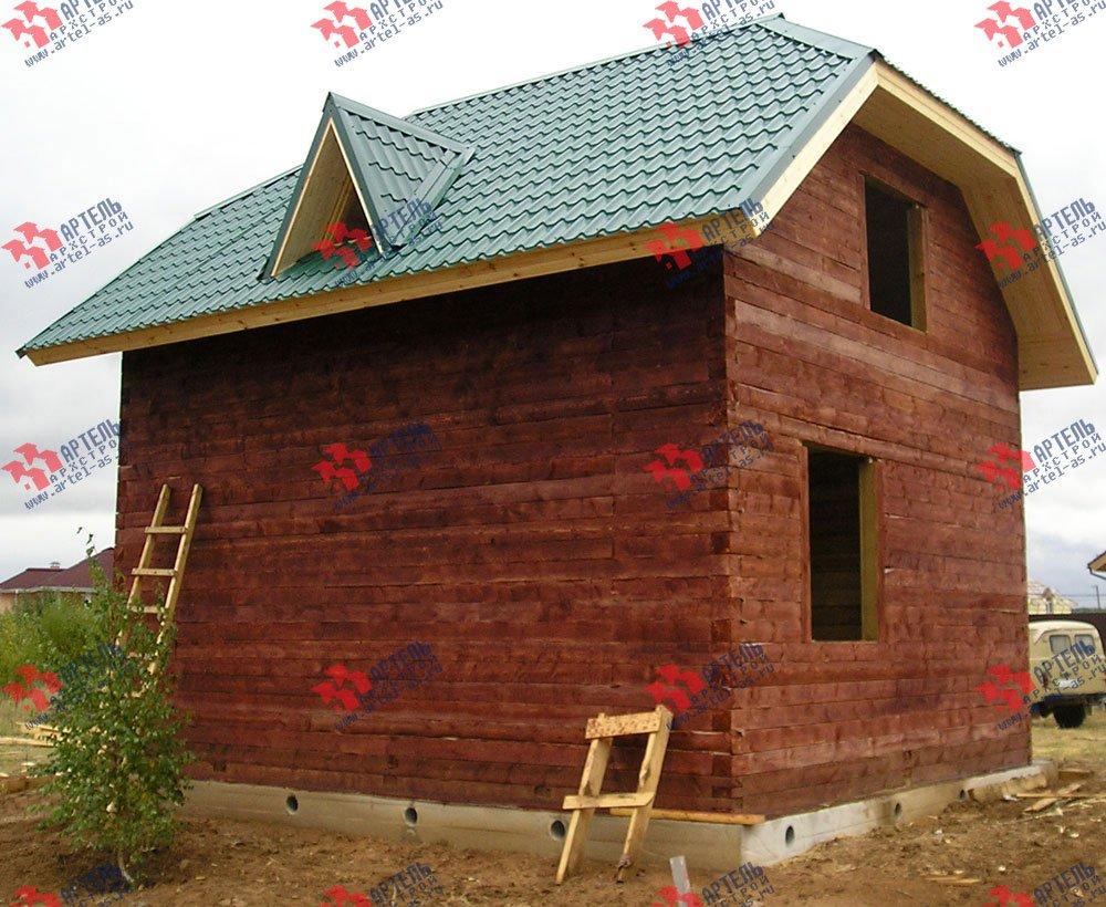 дом из профилированного бруса построенный по проекту Вариант 6 Г фотография 1645